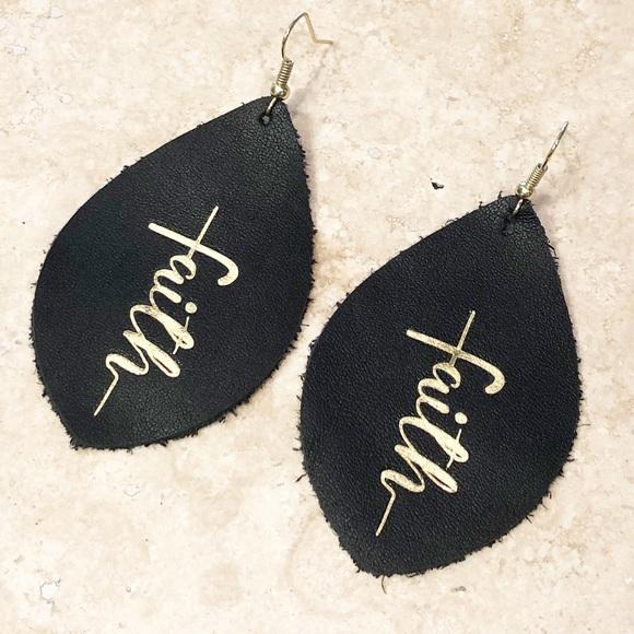 Leather earrings Long earrings Black leather Dangles Statement earrings. Flower earrings Black leather dangle earrings